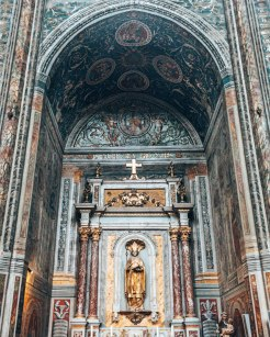 Cathedral Basilica of Saint Cecilia statue Gers France