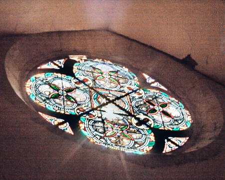 Cathedrale Sainte Marie D'Auch stained glass sunglare France