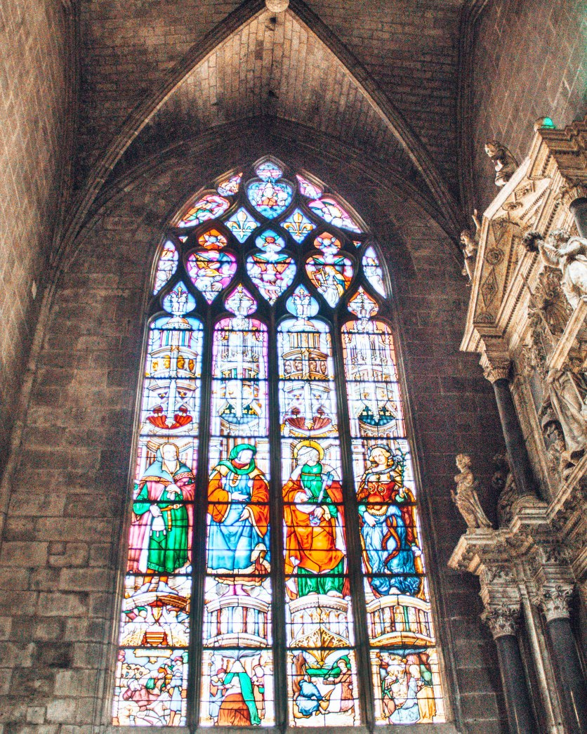 Cathedrale Sainte Marie D'Auch stained glass window France