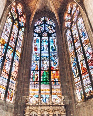 Cathedrale Sainte Marie D'Auch stained glass windows France