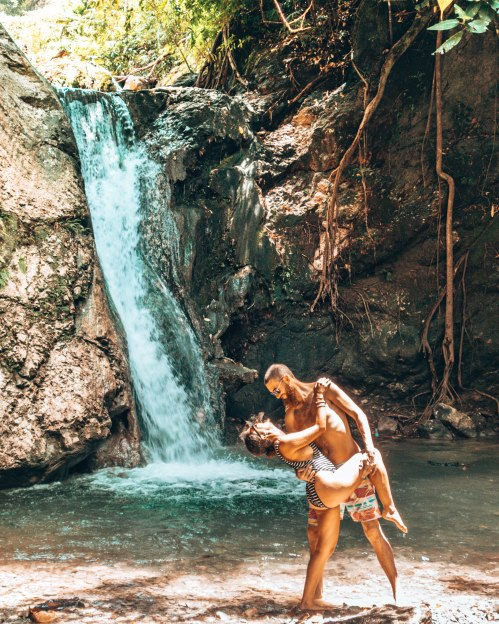 Overexposed picture from the waterfalls in Negros Oriental, Philippines