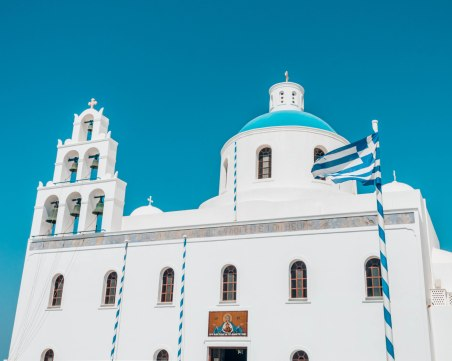 Ekklisia Panagia Platsani church Oia Santorini Greece