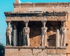 Erechteion statues Acropolis Athens Greece