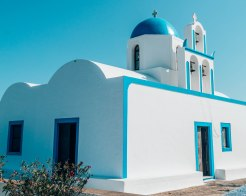 Firostefani church Santorini Greece