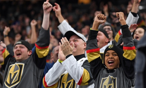 Golden Knights fans cheering
