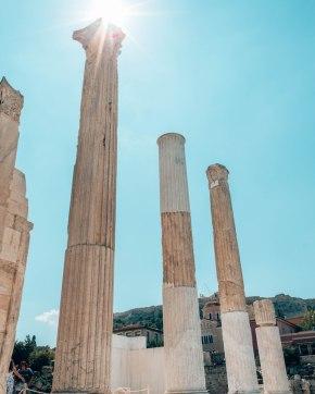 Haydens Library columns Athens Greece