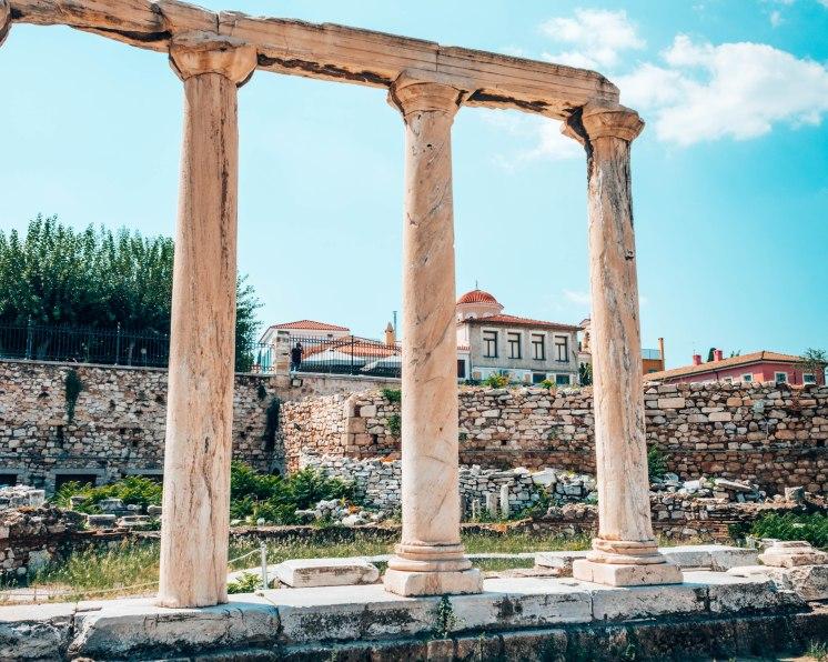 Haydens Library columns church Athens Greece