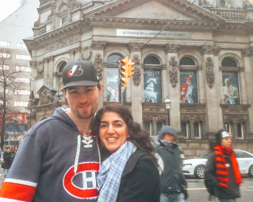 wediditourway in front of the Hockey Hall of Fame