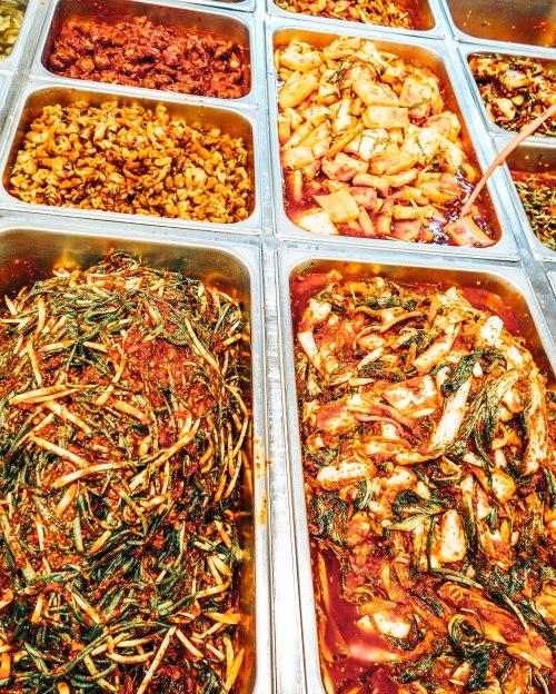 Kimchi at street market in South Korea