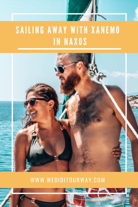 Sailing away with Xanemo in Naxos wediditourway