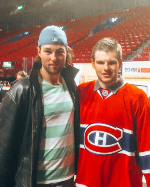 Alex Galchenyuk and I at the Habs blood drive
