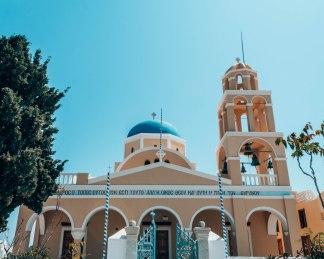 Oia Agios Georgios church Santorini Greece