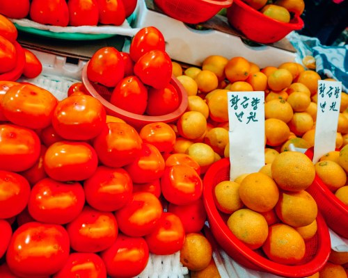 Oranges at street market in South Korea