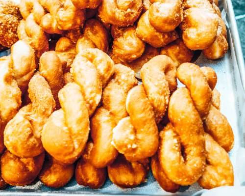 Pastries at street market in South Korea
