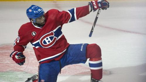PK subban celebrating a goal