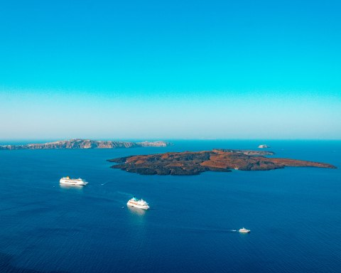 Santorini Bay ferries Greece