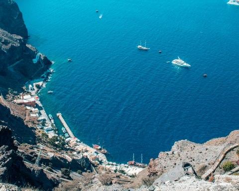 Santorini port Greece