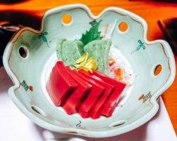 Traditional Japanease food at a Ryokan