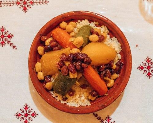 Traditional Morocan vegetable Tajine