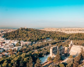View of Athens from the Acropolis Greece