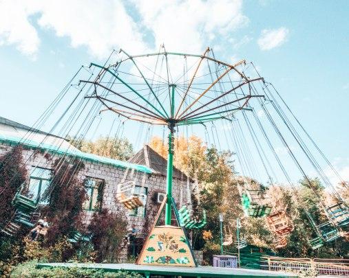 Amusement park swing Gyumri Armenia