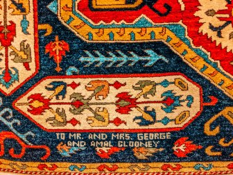 Armenian rug Megerian carpet company museum genecide commemoration George and Amal Clooney 2
