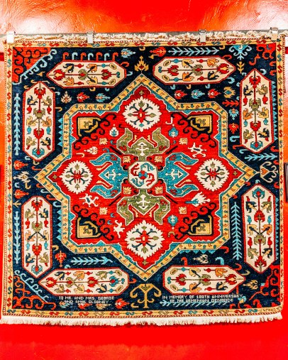 Armenian rug Megerian carpet company museum genecide commemoration George and Amal Clooney