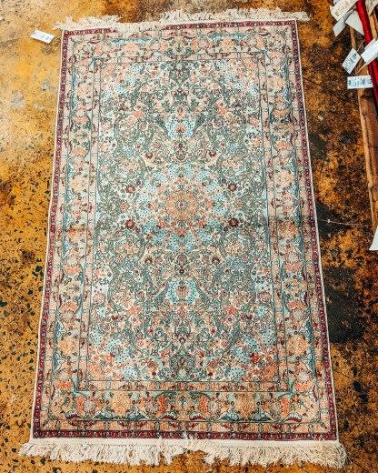Armenian silk rug Megerian carpet Yerevan