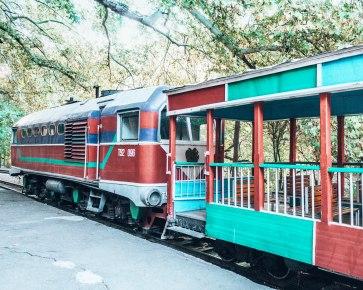 Childrens train station amusement Yerevan Armenia 2