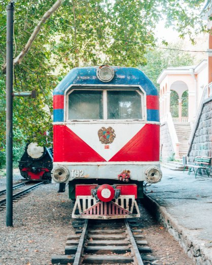 Childrens train station amusement Yerevan Armenia