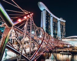 Helix bridge Marina Bay Sands hotel Signapore