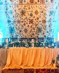 Megerian carpet company wedding reception main table