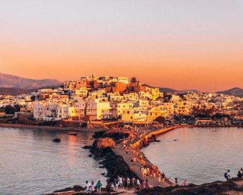Naxos sunset Greece