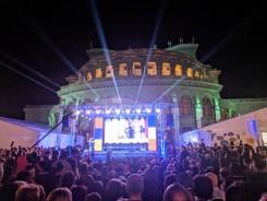 Opera at night Yerevan Armenia