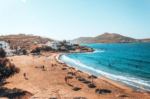 Piperi beach Paros Greece