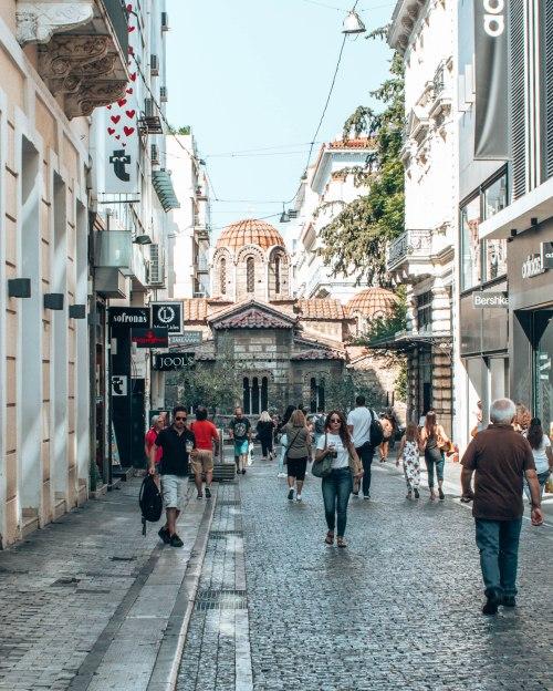 Plaka district Athens Greece