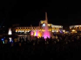 Republic square at night Armenia