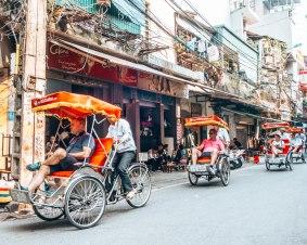 RIckshaw Hanoi Vietnam