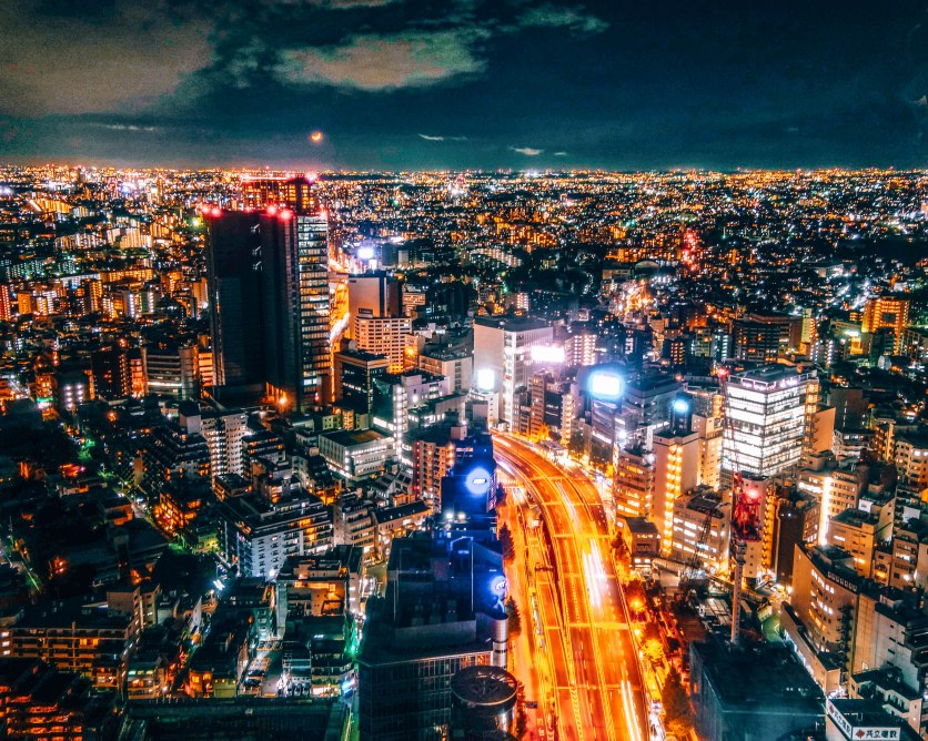 Tokyo from above Japan