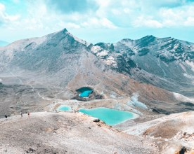 Tongariro National park summit New Zealand