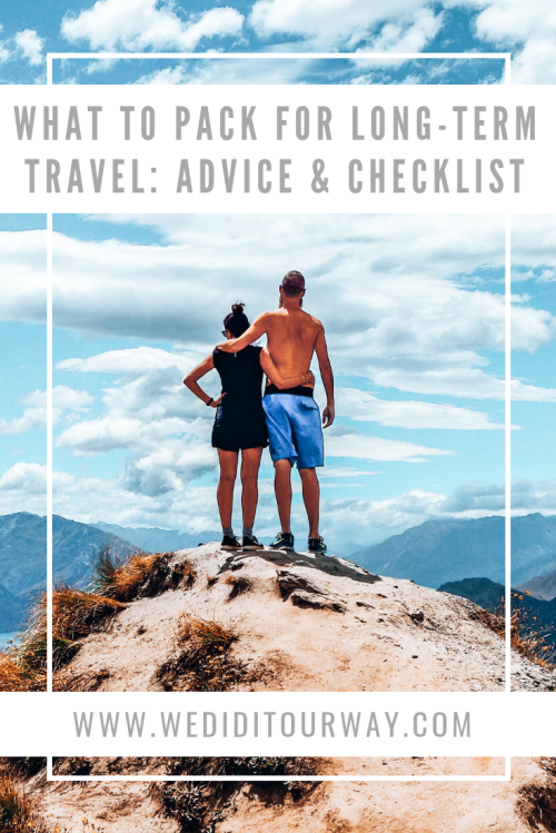 Discover our best advice and a helpful checklist on what to pack for long term travel. Includes important questions and our best recommendations after 13 months on the road