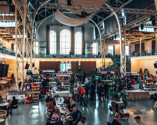 Inside the old market in Bratislava, Slovakia