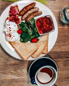 Lovely English breakfast at Urban Bistro in Bratislava, Slovakia