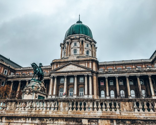Behold the Buda castle in Budapest, Hungary