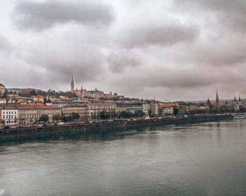 The Buda side of the Danube river in Budapest, Hungary