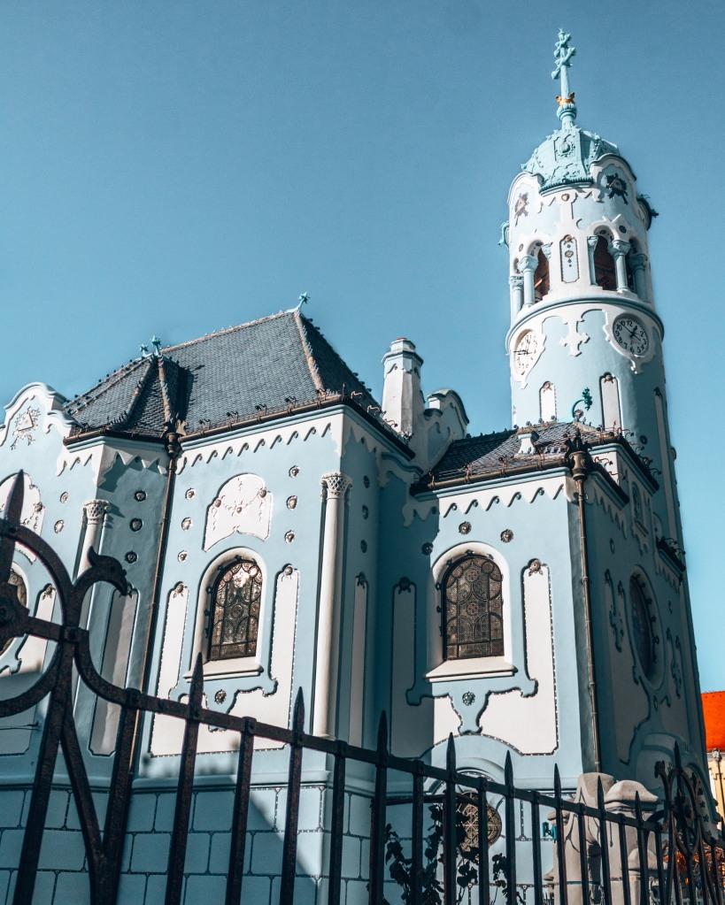 The church of St. Elizabeth aka the Blue church in Bratislava, Slovakia