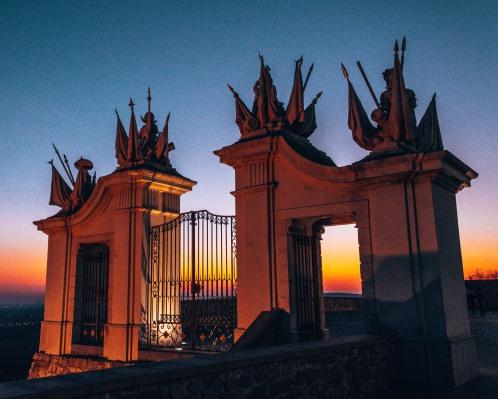 Super cool gate at the Bratislava Castle in Bratislava, Slovakia