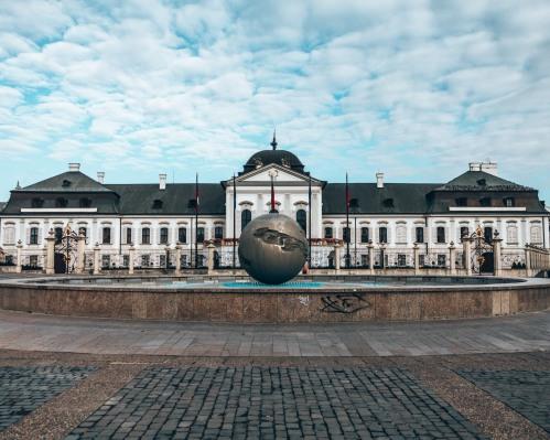 The famous Grassalkovich Palace in Bratislava, Slovakia