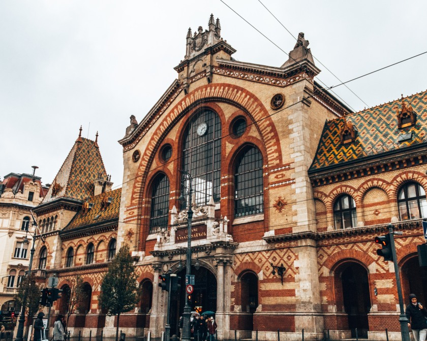 The historical Great Market Hall in Budapest, Hungary