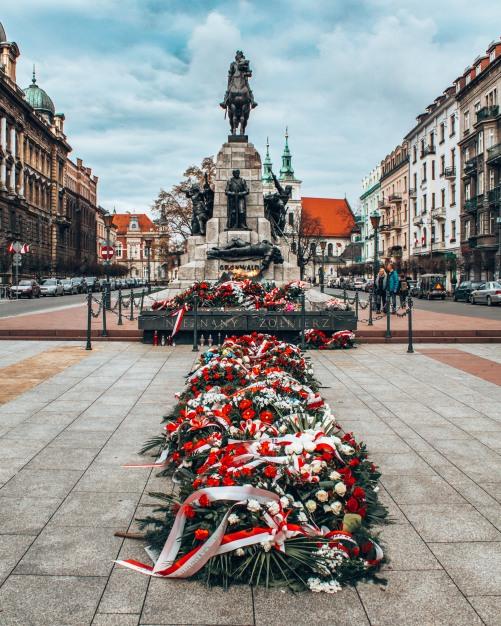 The Grunwald monument in Krakow, Poland